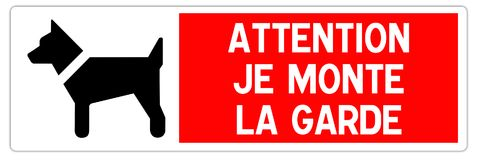 Road sign in France: attention watchdog royalty free stock images