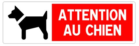Road sign in France: attention watchdog royalty free stock photos