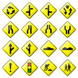 Road Sign Glossy Vector (Set 2 of 8) Stock Photography
