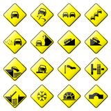 Road Sign Glossy Vector (Set 3 of 8) Stock Photos