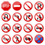 Road Sign Glossy Vector (Set 6 of 8) Royalty Free Stock Photos
