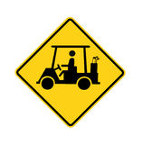 Road sign - golf cart crossing Royalty Free Stock Photography