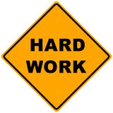 Road Sign Hard Work Stock Images
