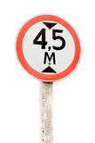 Road sign. Height limit. Royalty Free Stock Photos