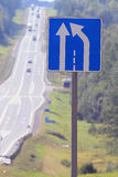 Road sign on the highway road Royalty Free Stock Photo