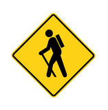 Road sign - hiker Royalty Free Stock Photo