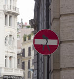 Road sign with humor Royalty Free Stock Photos