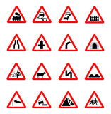 Road sign icon Royalty Free Stock Photography