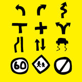 Road sign Icon. Illustration of hand drawn road sign icon Stock Photos
