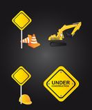 Road sign icons Royalty Free Stock Images