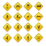 Road sign icons Stock Photo
