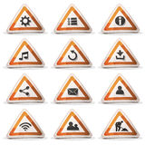 Road Sign Icons And Buttons For Ui Game Stock Images