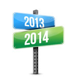2013 2014 road sign illustration design. Over a white background Stock Image