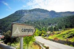 Road to the campsite, Sierra de Grazalema Natural Park, province of Cádiz, Spain Stock Photo