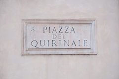 Road sign indicating a street name in Italian Royalty Free Stock Image