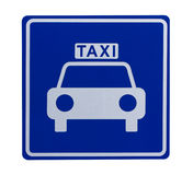 Road sign indicating a taxicab stand Stock Images