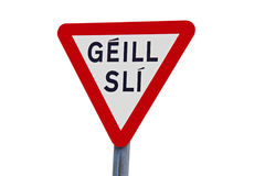 Road sign in Ireland Royalty Free Stock Photos