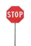 Road sign isolated Stock Photography