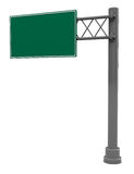 Road sign isolated. 3d illustration of empty road sign isolated over white background Stock Photos