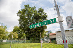 Road sign Kandahar Street in Singapore Royalty Free Stock Photo