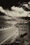 Road sign, keep left Royalty Free Stock Image