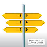 Road Sign Label Banner Background Stock Photos
