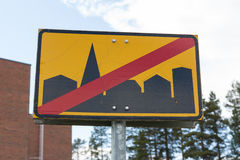 Road sign Leaving city Stock Photo