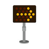 Road sign led right arrow icon. Vector illustration Royalty Free Stock Image