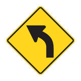 Road Sign - Left turn Royalty Free Stock Photography