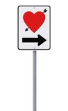 Road Sign on Love Royalty Free Stock Images