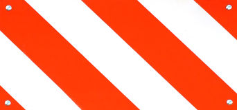 Road Sign Macro. Striped road sign macro Royalty Free Stock Photos