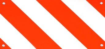 Road Sign Macro. Striped road sign macro royalty free stock photos