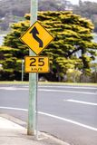 Road sign of the maximum speed stock photography