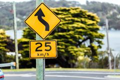 Road sign of the maximum speed royalty free stock image