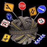 Road Sign Mess Way Stock Image