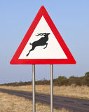 Road Sign in Namibia Royalty Free Stock Photos