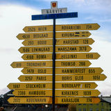 Road sign. In Narvik, Norway Stock Photo