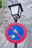 Road sign No cycling Royalty Free Stock Photos