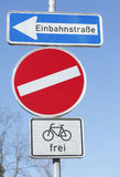 Road  Sign no entry Royalty Free Stock Image