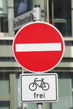 Road  Sign no entry Stock Photography