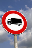 No entry large vehicles. Road sign Stock Photos