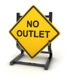 Road sign - no outlet Stock Photo