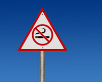 Road sign of no smoking Stock Photo