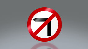 Road sign no turn left. The notice of traffic sign for transportation safety stock footage