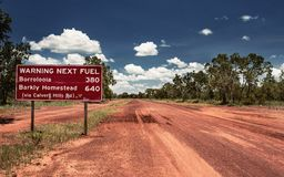 Road sign in Northern Territory Stock Images