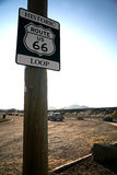 Road Sign in the old Route 66 Royalty Free Stock Photography