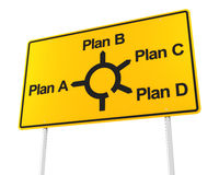 Road sign with options for different plans Royalty Free Stock Photos