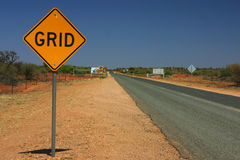 Road Sign in outback Stock Photography