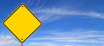 Road Sign over Sky Panorama Royalty Free Stock Image