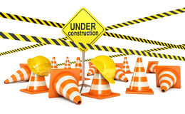 Road sign. Page under construction Stock Image